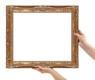 Kader in handen Royalty-vrije Stock Fotografie
