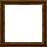 Kader houten die 3d grunge op wit wordt geïsoleerd Royalty-vrije Illustratie