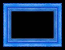 Kader houten Gesneden die patroon op een zwarte achtergrond wordt geïsoleerd Stock Afbeelding
