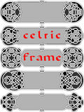 Kader in In Keltische stijl Stock Afbeelding