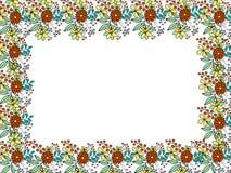 Kader met bloemen Stock Afbeeldingen