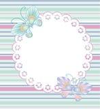 Kader met bloemen en vlinders Stock Foto