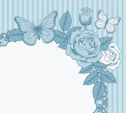 Kader met bloemen en vlinders Royalty-vrije Stock Foto