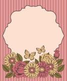 Kader met bloemen en vlinders Royalty-vrije Stock Afbeeldingen