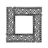 Kader met etnisch met de hand gemaakt ornament voor uw Stock Afbeelding