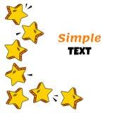 Kader met gele grappige sterren Vector illustratie vector illustratie