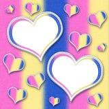 Kader met hart. Plakboek. Royalty-vrije Stock Afbeelding