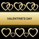 Kader met hart Valentine card2 Stock Foto's