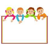 Kader met kinderen Royalty-vrije Stock Fotografie