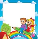 Kader met leerlingsthema 1 royalty-vrije illustratie