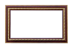 Kader met rode die eik met goud in orde wordt gemaakt Royalty-vrije Stock Afbeelding