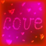 Kader met rood hart valentine Stock Afbeelding