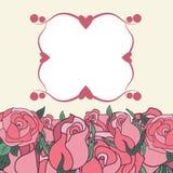 Kader met rozen Stock Afbeelding