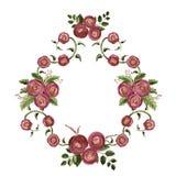 Kader met waterverfboeketten met rozen Royalty-vrije Stock Foto
