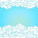Kader met wolken vector illustratie