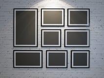 Kader op bakstenen muur royalty-vrije stock foto's