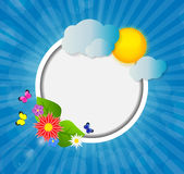 Kader op Sunny Shiny Background Vector Royalty-vrije Stock Afbeelding