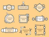 Kader in steampunkstijl vector illustratie