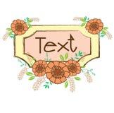Kader uitstekende bloem Stock Illustratie