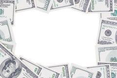 Kader van 100 Amerikaanse dollars wordt gemaakt die Royalty-vrije Stock Foto's