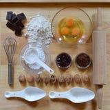 Kader van bakselingrediënten stock foto