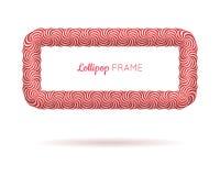 Kader van de lolly het rode rechthoek Stock Fotografie