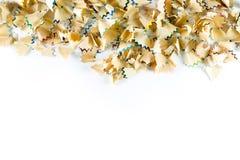 Kader van de spaanders van het kleurenpotlood op een Witboek wordt gemaakt dat Royalty-vrije Stock Foto
