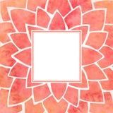 Kader van de waterverf het rode bloem Vector illustratie vector illustratie