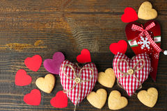 Kader van een verscheidenheid van harten Stock Foto
