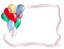 Kader van gekleurde ballons Stock Afbeeldingen