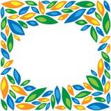 Kader van gekleurde bloemblaadjes Royalty-vrije Stock Foto