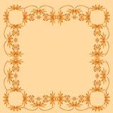 kader van geschilderd ornament op een bleke achtergrond Royalty-vrije Stock Fotografie