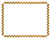 Kader van gezouten crackers op wit geïsoleerde achtergrond, hoogste mening Royalty-vrije Stock Afbeeldingen
