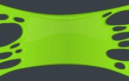 Kader van groen kleverig slijm Stock Afbeelding