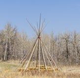 Kader van het prairie het Inheemse Tipi Royalty-vrije Stock Afbeeldingen