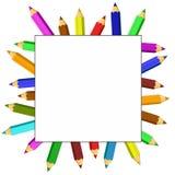 Kader van kleurpotloden Royalty-vrije Stock Afbeelding