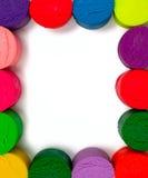 Kader van kleurrijke plasticine wordt gemaakt die Stock Afbeeldingen