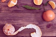 Kader van mandarijnen royalty-vrije stock foto's