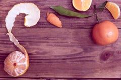 Kader van mandarijnen royalty-vrije stock afbeelding