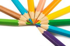 Kader van multicolored geïsoleerde pensils Royalty-vrije Stock Afbeelding