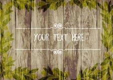 kader van olijven op een houten achtergrond Getrokken hand Vector illustratie Stock Afbeelding