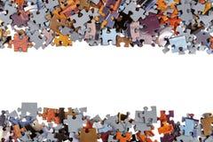 Kader van Puzzelstukken Stock Foto