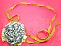 Kader van Rose Fabric Handmade Decoration Royalty-vrije Stock Foto's