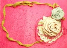 Kader van Rose Fabric Handmade Decoration Stock Foto