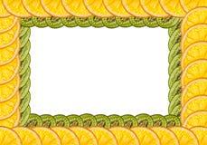 Sinaasappelen en kiwi Stock Foto