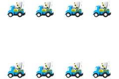 Kader van Stuk speelgoed auto's Stock Foto's