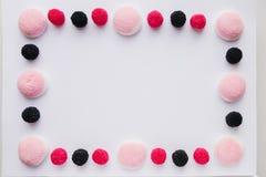 Kader van suikergoed of gelei op witte achtergrond Stock Afbeeldingen