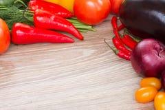 Kader van verse groenten Stock Afbeeldingen