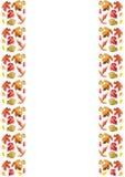 Kader van verticaal de herfstbladeren, Royalty-vrije Stock Afbeelding