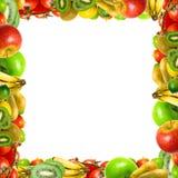Kader van vruchten en groenten royalty-vrije stock foto